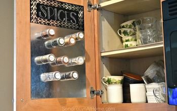 diy magnetic spice board, crafts, kitchen design, organizing