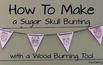 How to Make a Sugar Skull Bunting With a Wood Burning Tool