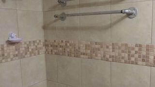 , back of shower area