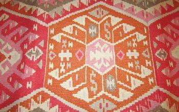 diy kilim rug, flooring, home decor, reupholster