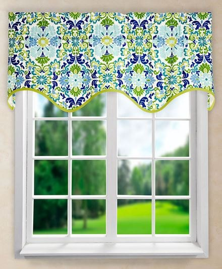 q can i put 2 scalloped valances together, home decor, reupholster, wall decor, window treatments, windows, This is the valance I have in mind