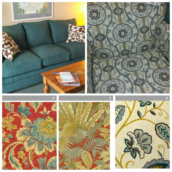 q drapery for oceanfront condo, home decor, living room ideas, reupholster, window treatments, Sofa chair fabrics I like