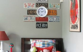 Easy License Plate Wall Art