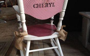 little cheryl rocking chair refinish, painted furniture