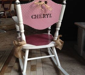 Genial Little Cheryl Rocking Chair Refinish, Painted Furniture