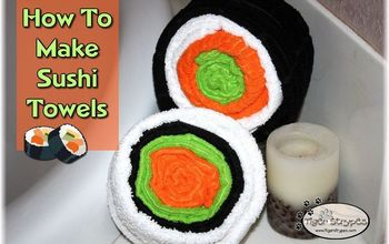learn how to make sushi towels, crafts