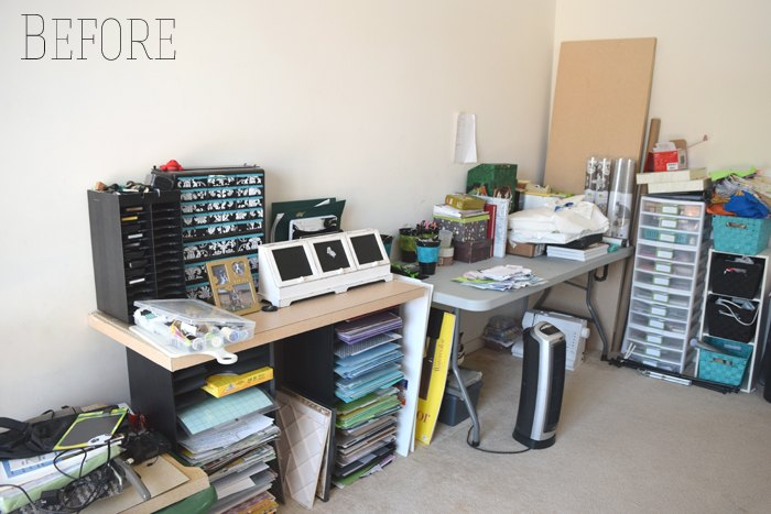 office and craft room reveal, craft rooms, home office, organizing, storage ideas, wall decor