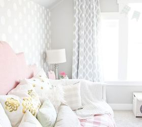 Pink and Gray Little Girls Room Hometalk