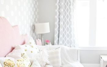 pink and gray little girl s room, bedroom ideas, home decor, paint colors, painting