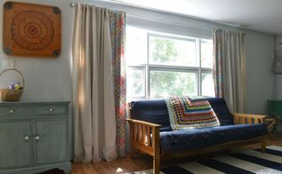 diy lined drop cloth curtains modified for large windows, diy, home decor, how to, reupholster, window treatments, windows