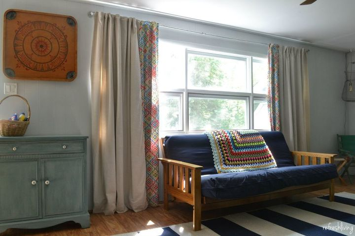 Diy Lined Drop Cloth Curtains Modified For Large Windows Home Decor How