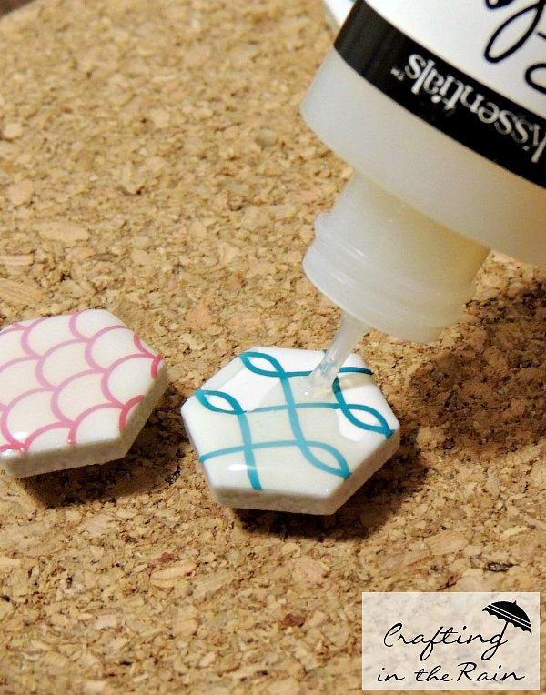 hexagon thumbtacks, crafts