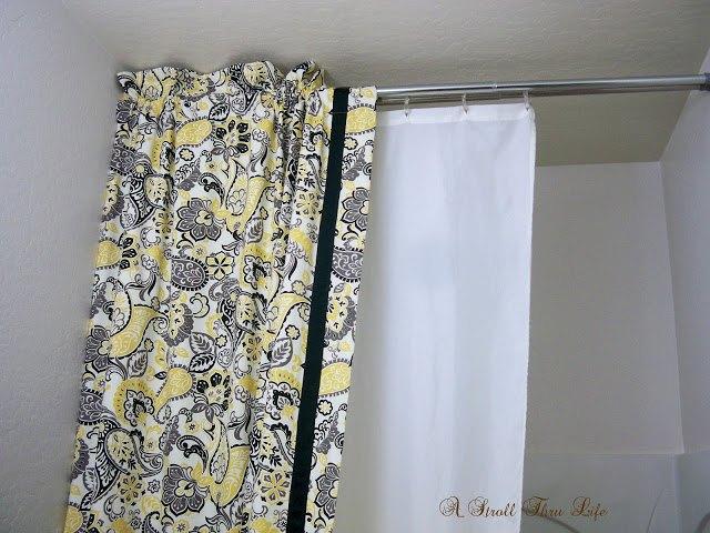 Diy Double Shower Curtain Liner Tutorial Bathroom Ideas Home Decor How To