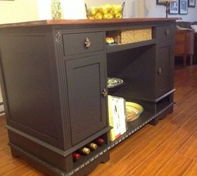 from this to that an old desk gets a new life as a kitchen island