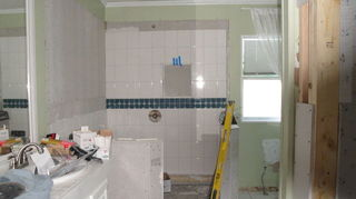 , New shower nearly complete Glass surround and door added a little later It s wonderful and very roomy