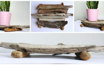 diy driftwood coaster, crafts