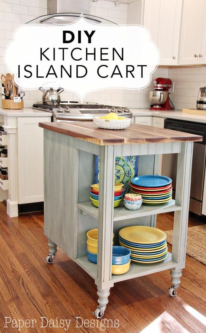 diy kitchen island cart with plans hometalk