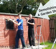 demolishing a garden shed, diy, home improvement
