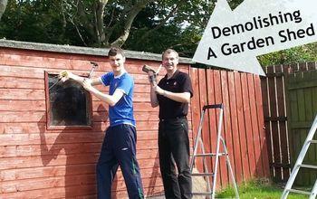 demolishing a garden shed, diy, home improvement