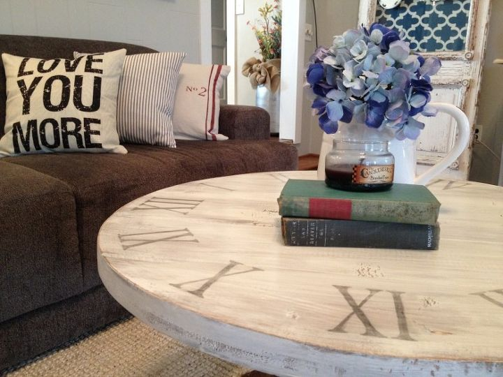 Round And We Go The Story Of My Diy Coffee Table Painted