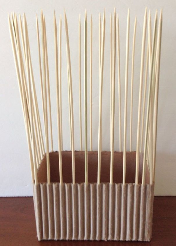 corrugated cardboard and jute twine vase, crafts, repurposing upcycling