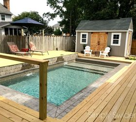 Backyard Makeover One Year Later, Decks, Diy, Fences, Outdoor Living, Pool