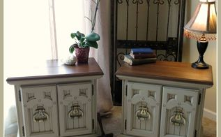 chalk painting 101 video painting two vintage night stands, chalk paint, painted furniture