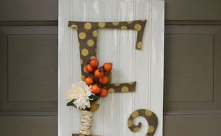 early fall door decor, crafts, home decor, seasonal holiday decor