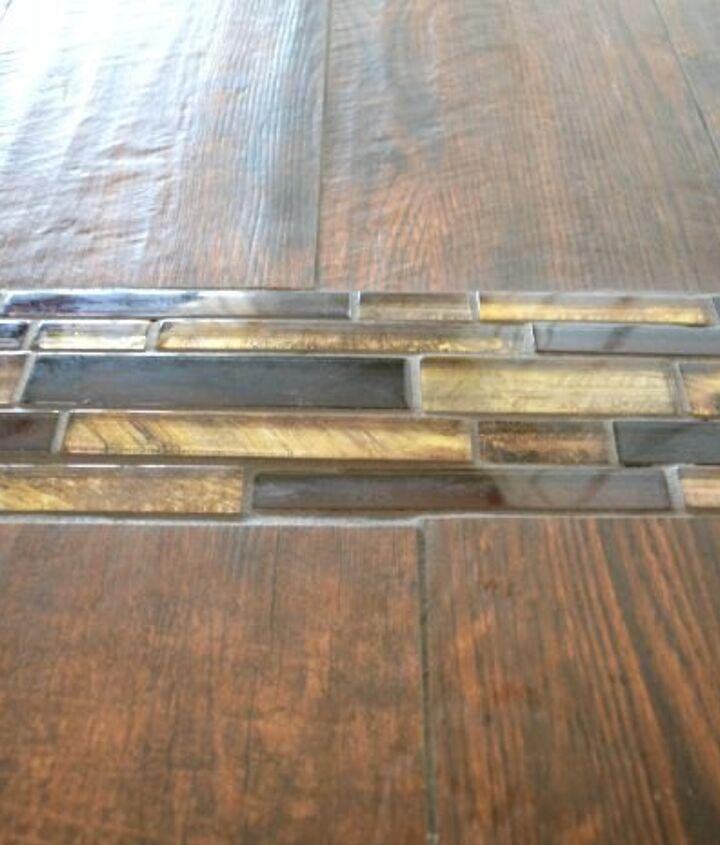 mosaic tile floor transition, diy, flooring, tile flooring