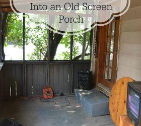 Screen Porch Renovation, Decks, Outdoor Living, Porches, Interior Before