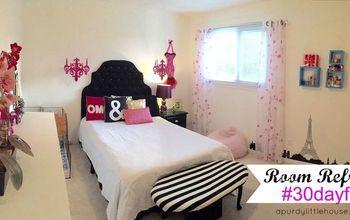 room refresh teen girls room 30dayflip, bedroom ideas, home decor, wall decor