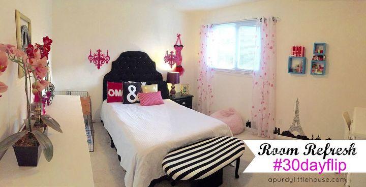 Wall Decor Teenage Girl Bedroom: Room Refresh - Teen Girls Room #30dayflip