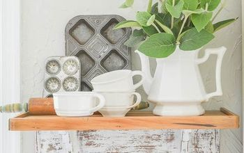 Create a Distressed Farmhouse Style Shelf for Your Kitchen