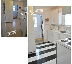 how to lay vinyl black and white flooring in stripes diy flooring how