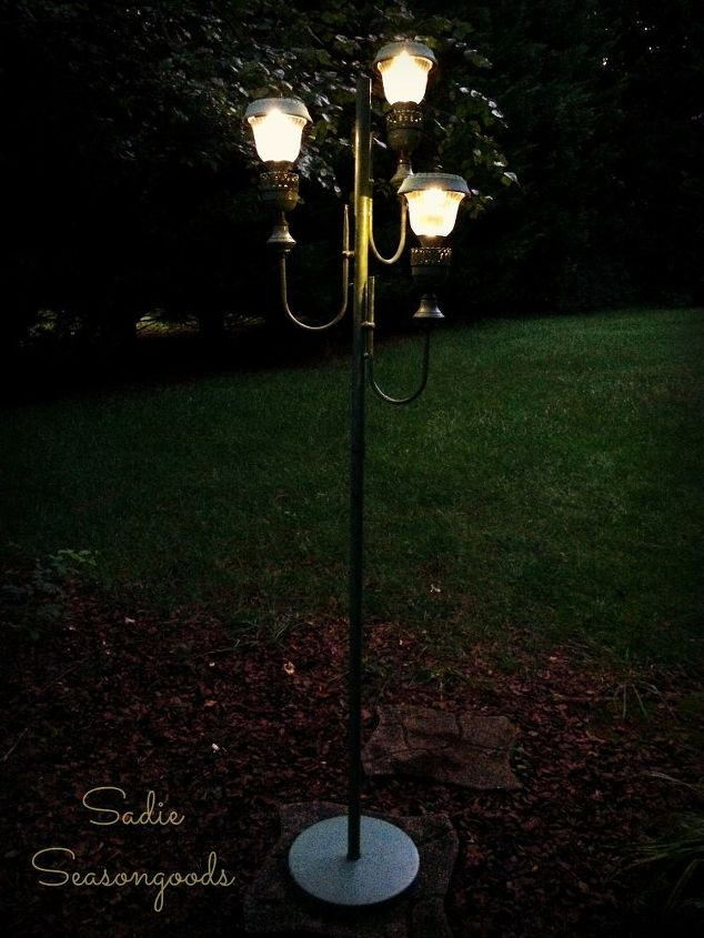 From old floor lamp to new solar lights hometalk from old floor lamp to new solar lights lighting outdoor living repurposing upcycling aloadofball Image collections