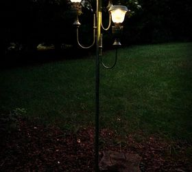 from old floor l& to new solar lights lighting outdoor living repurposing upcycling & From Old Floor Lamp to New Solar Lights | Hometalk