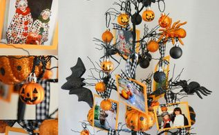 halloween photo tree, crafts, halloween decorations, seasonal holiday decor