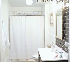 Before After Classic Black White Bathroom Reveal, Bathroom Ideas, Small Bathroom  Ideas ...