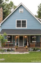 blue cottage garden landscaping progress, curb appeal, gardening, landscape, outdoor living, porches