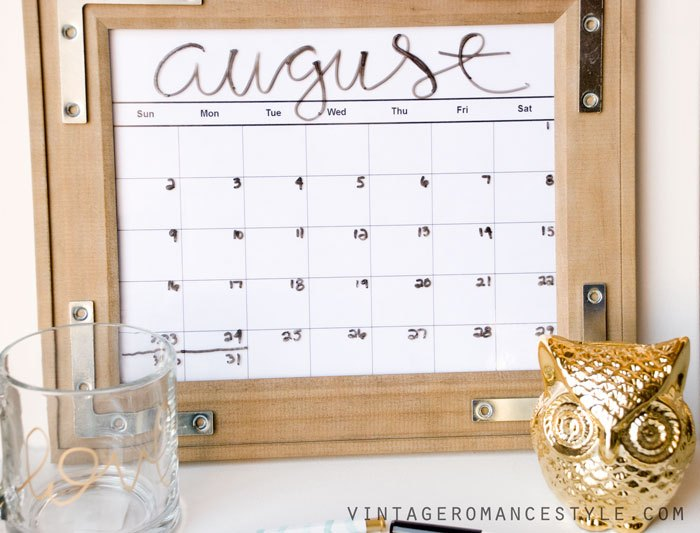 diy rustic industrial dry erase calendar, crafts, how to, organizing