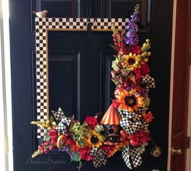 Front Door Decor A Non Wreath Fall Wreath, Crafts, Seasonal Holiday Decor,  Wreaths