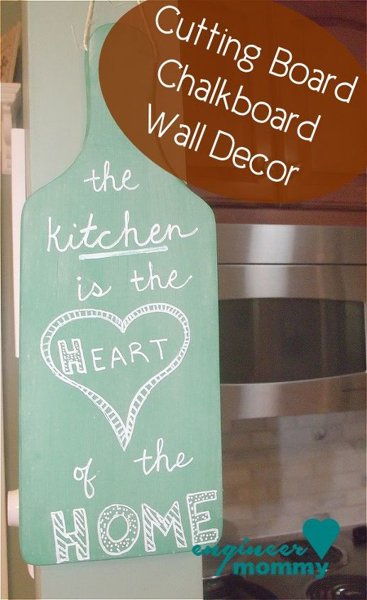 diy chalkboard cutting board project, chalkboard paint, crafts, repurposing upcycling, wall decor