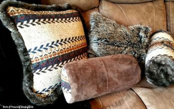 Sweater and Faux Fur Pillow Covers