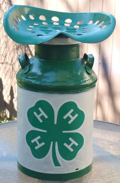 s 11 charming things you can do with an old milk can, crafts, Make a Couple Stools