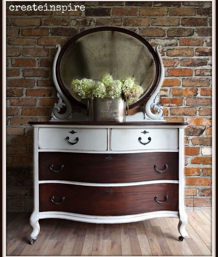 antique cherry dresser, painted furniture