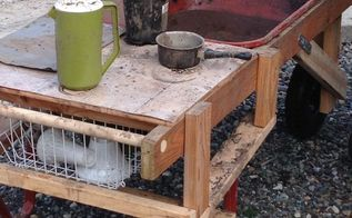 mud kitchen, diy, outdoor living, repurposing upcycling, woodworking projects