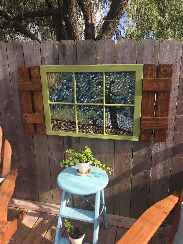 how to create garden art with flat marbles, crafts, how to, outdoor living, repurposing upcycling