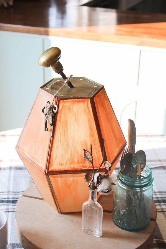 upcycled pumpkin lanterns, crafts, repurposing upcycling, seasonal holiday decor