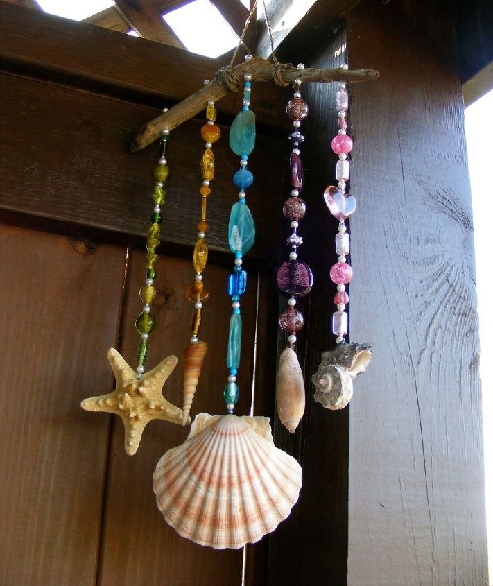 beads seashell wind chime, crafts