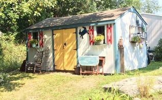 coastal beach shed makeover, outdoor living
